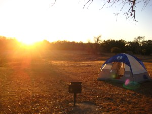 Beautiful Sunrise on Our Campsite